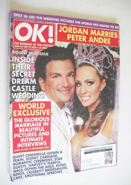 Ok Magazine Peter Andre And Katie Price Jordan Wedding Cover 20 September 2005 Issue 487