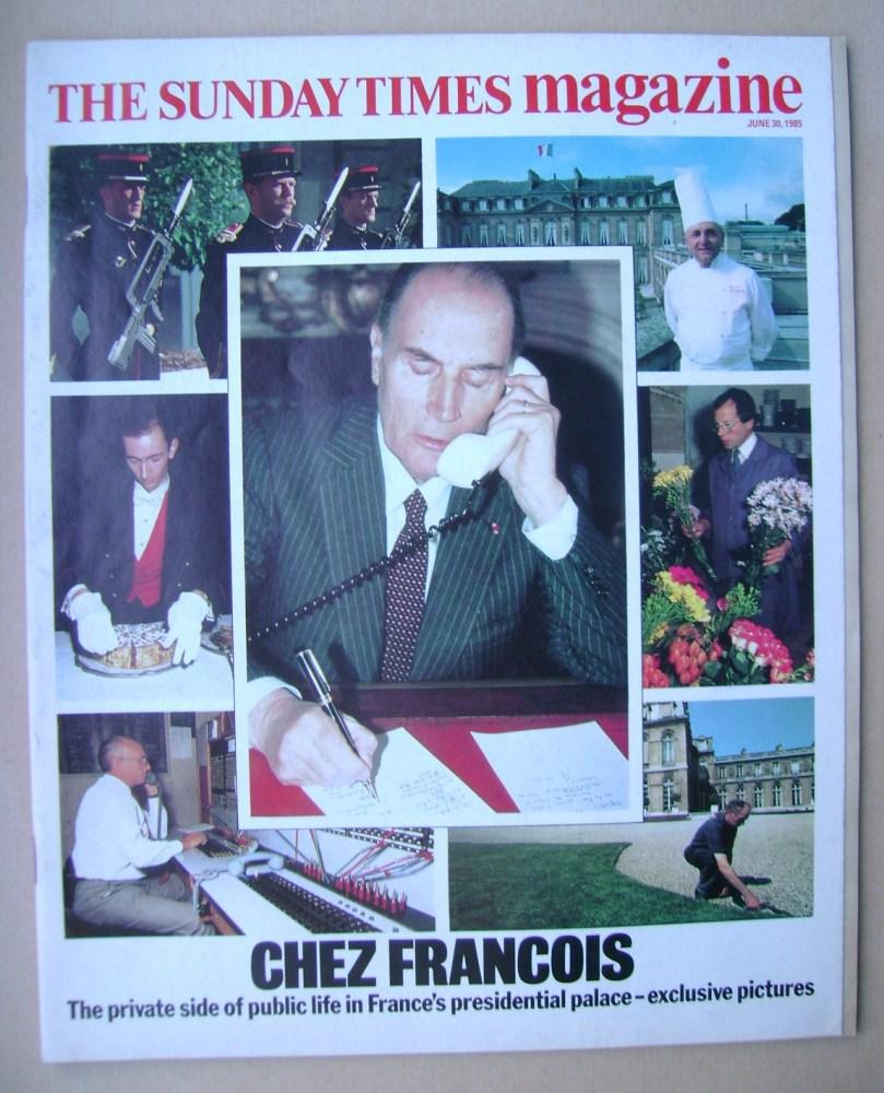 <!--1985-06-30-->The Sunday Times magazine - Chez Francois cover (30 June 1