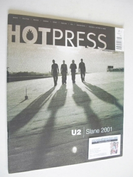 Hot Press magazine - U2 cover (29 August 2001)