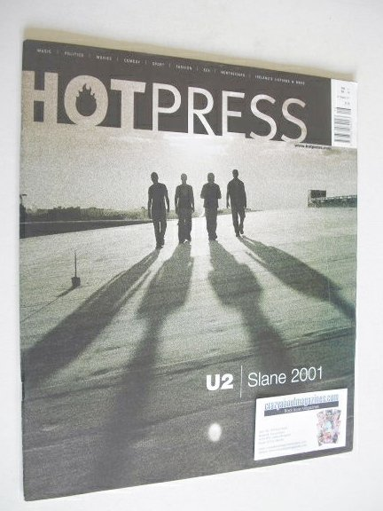 <!--2001-08-29-->Hot Press magazine - U2 cover (29 August 2001)