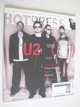 Hot Press magazine - U2 cover (4 December 2002)