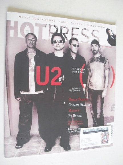 <!--2002-12-04-->Hot Press magazine - U2 cover (4 December 2002)