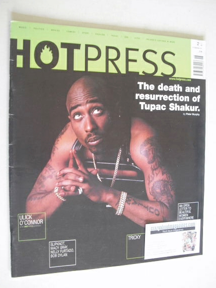 <!--2001-09-26-->Hot Press magazine - Tupac Shakur cover (26 September 2001