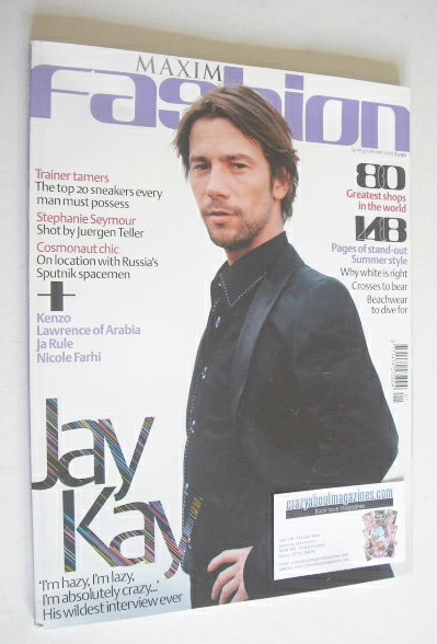 MAXIM Fashion magazine - Jay Kay cover (Spring/Summer 2002)