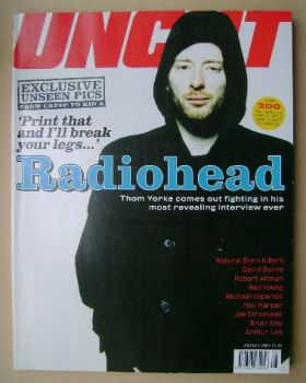 Uncut magazine - Thom Yorke cover (August 2001)