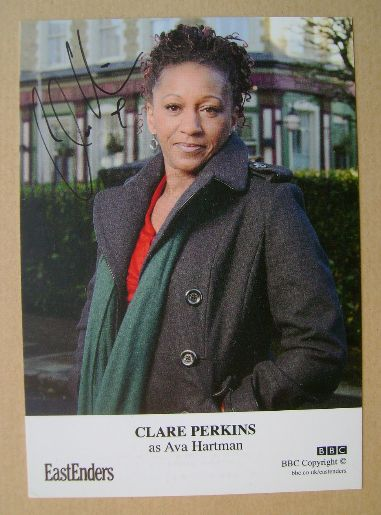 Clare Perkins autograph