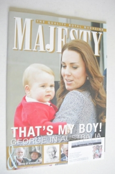 Majesty magazine - Kate and Prince George cover (June 2014)