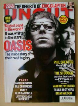 Uncut magazine - Liam Gallagher and Noel Gallagher cover (September 2008)