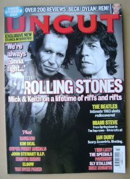 Uncut magazine - Keith Richards and Mick Jagger cover (April 2008)