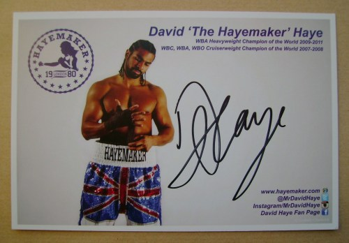 David Haye autograph