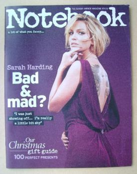 Notebook magazine - Sarah Harding cover (17 November 2013)