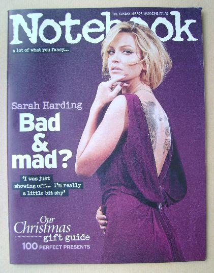 <!--2013-11-17-->Notebook magazine - Sarah Harding cover (17 November 2013)
