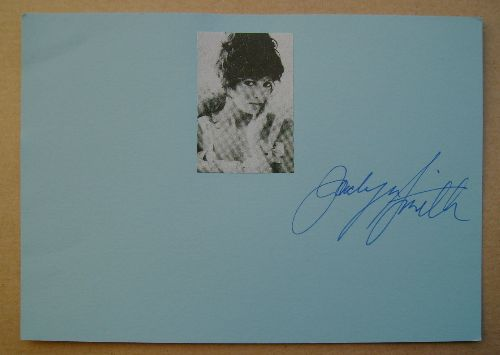 Jaclyn Smith autograph (hand-signed card)