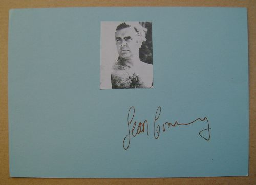 Sean Connery autograph (hand-signed card)