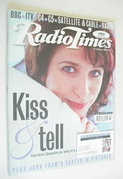 <!--1999-05-15-->Radio Times magazine - Caroline Quentin cover (15-21 May 1