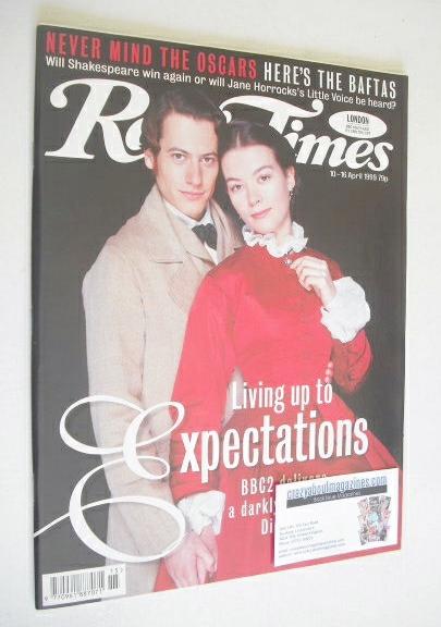 <!--1999-04-10-->Radio Times magazine - Ioan Gruffudd and Justine Waddell c