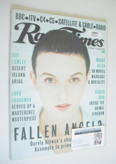 <!--1999-03-27-->Radio Times magazine - Dervla Kirwan cover (27 March - 2 A