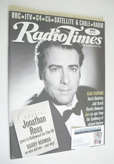 <!--1999-03-20-->Radio Times magazine - Jonathan Ross cover (20-26 March 19