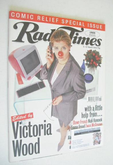 <!--1999-03-06-->Radio Times magazine - Victoria Wood cover (6-12 March 199