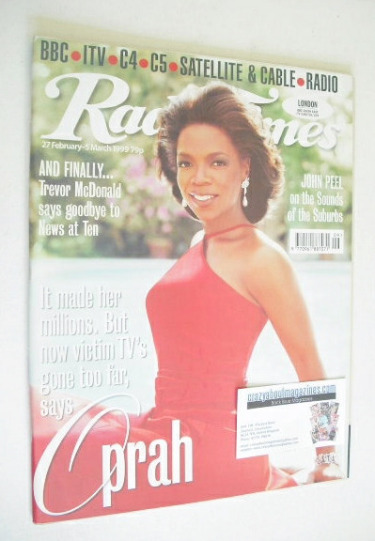 <!--1999-02-27-->Radio Times magazine - Oprah Winfrey cover (27 February-5