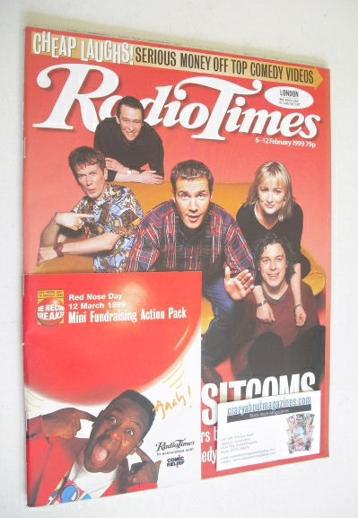 <!--1999-02-06-->Radio Times magazine - Save Our Sitcoms cover (6-12 Februa
