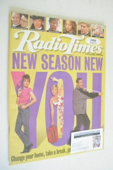 <!--1999-01-02-->Radio Times magazine - New Season New You cover (2-8 Janua