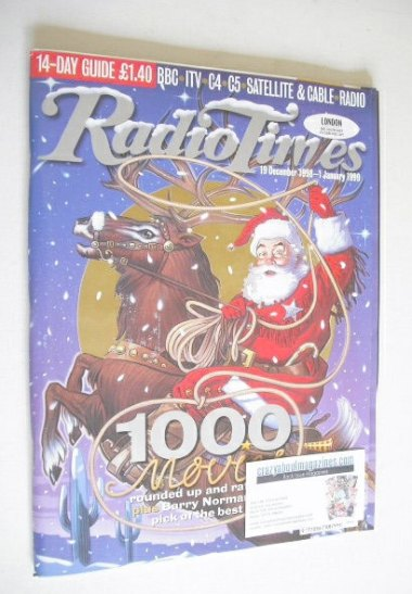 <!--1998-12-19-->Radio Times magazine - Father Christmas cover (19 December