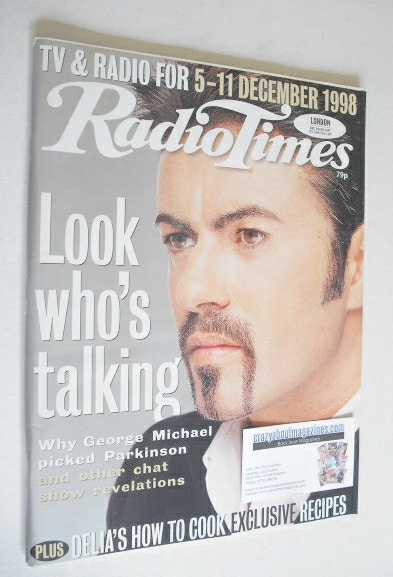 <!--1998-12-05-->Radio Times magazine - George Michael cover (5-11 December