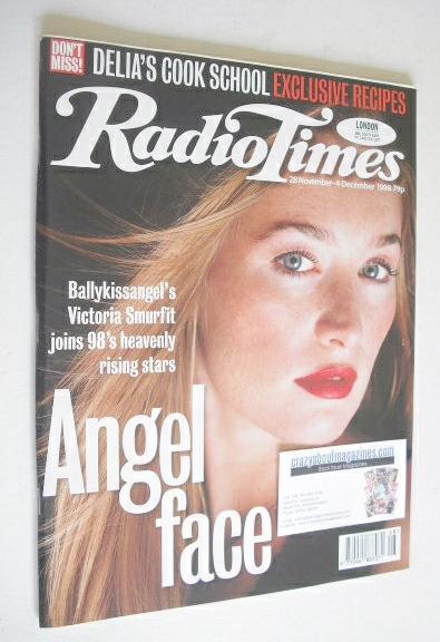 <!--1998-11-28-->Radio Times magazine - Victoria Smurfit cover (28 November