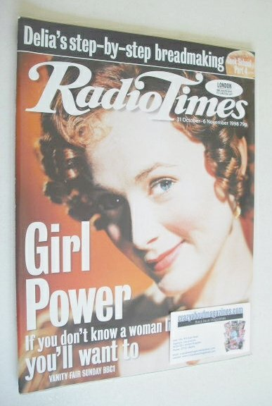 <!--1998-10-31-->Radio Times magazine - Natasha Little cover (31 October -