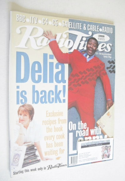 <!--1998-09-12-->Radio Times magazine - Lenny Henry cover (12-18 September