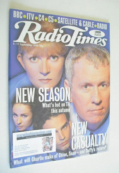 <!--1998-09-05-->Radio Times magazine - Casualty cover (5-11 September 1998