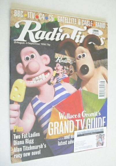 <!--1998-08-29-->Radio Times magazine - Wallace and Gromit cover (29 August