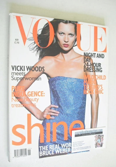 <!--1997-11-->British Vogue magazine - November 1997 - Kate Moss cover