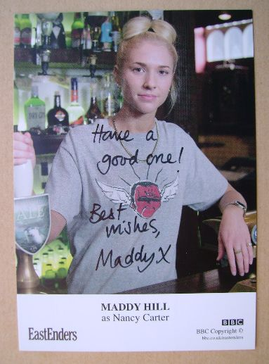 Maddy Hill autograph