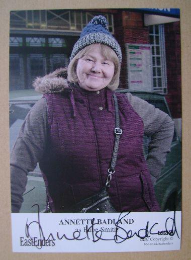Annette Badland autograph