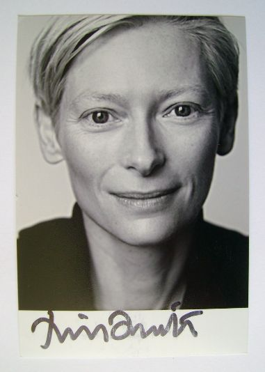 Tilda Swinton autograph