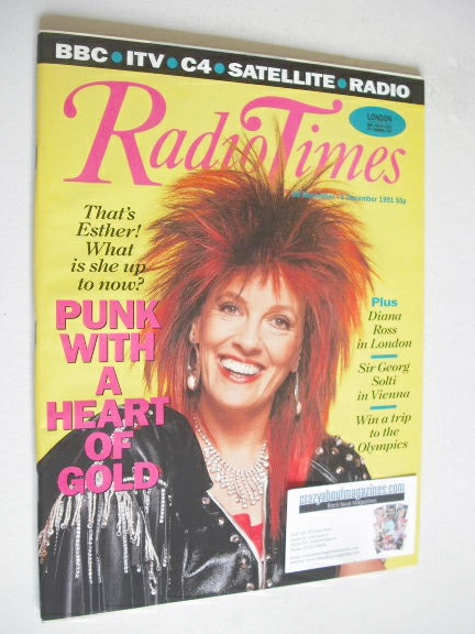 <!--1991-11-30-->Radio Times magazine - Esther Rantzen cover (30 November -