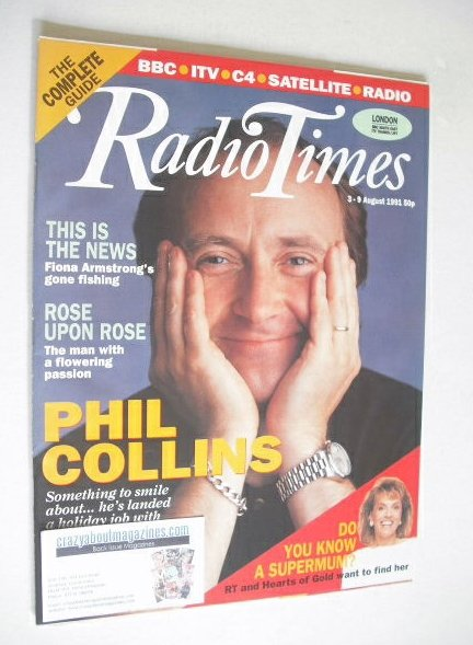 <!--1991-08-03-->Radio Times magazine - Phil Collins cover (3-9 August 1991
