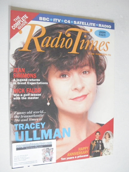 <!--1991-07-27-->Radio Times magazine - Tracey Ullman cover (27 July-2 Augu