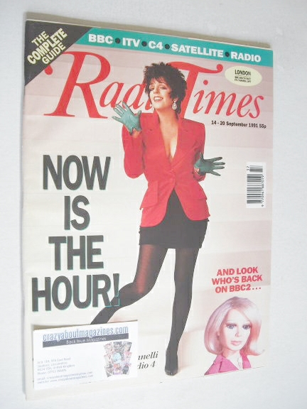 <!--1991-09-14-->Radio Times magazine - Liza Minelli cover (14-20 September