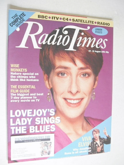<!--1991-08-10-->Radio Times magazine - Phyllis Logan cover (10-16 August 1