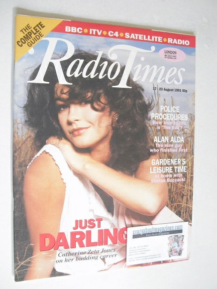 <!--1991-08-17-->Radio Times magazine - Catherine Zeta Jones cover (17-23 A