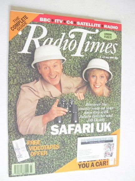 <!--1991-07-06-->Radio Times magazine - Jill Dando and Julian Pettifer cove