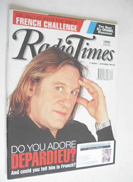 <!--1994-08-27-->Radio Times magazine - Gerard Depardieu cover (27 August-2