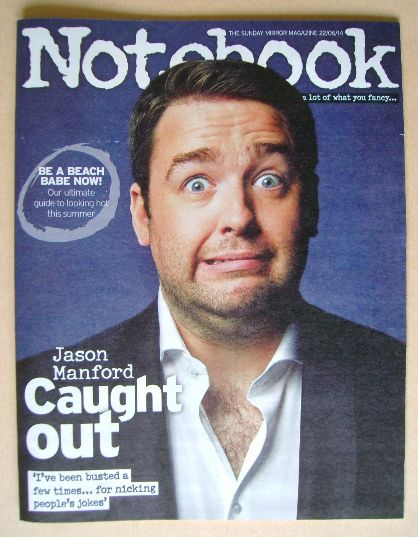 <!--2014-06-22-->Notebook magazine - Jason Manford cover (22 June 2014)