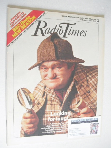<!--1985-01-19-->Radio Times magazine - Les Dawson cover (19-25 January 198