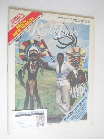 <!--1985-01-12-->Radio Times magazine - Pacific Progress cover (12-18 Janua
