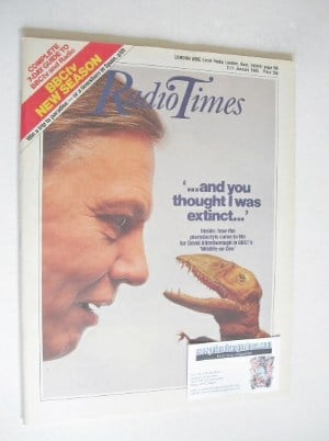 <!--1985-01-05-->Radio Times magazine - David Attenborough cover (5-11 Janu