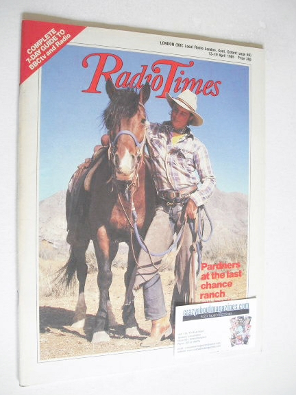 <!--1985-04-13-->Radio Times magazine - Running Wild cover (13-19 April 198